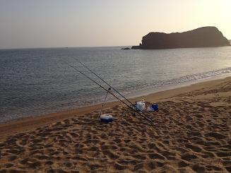 後ヶ浜キス釣り投げ釣り