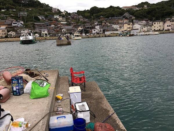 塩津漁港でタチウオ釣り