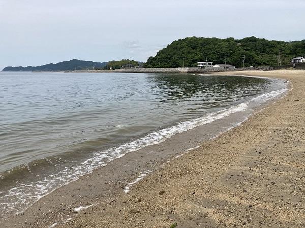 佐賀漁港 山口県 投げ釣り キス釣り 佐賀浜田の砂浜